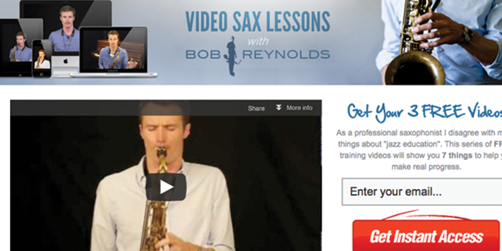 Video Sax Lessons with Bob Reynolds | Teen Jazz