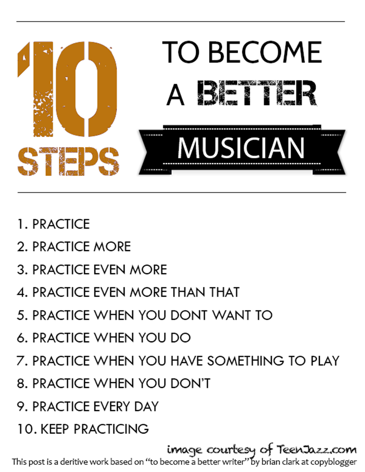 10 Steps to Become a Better Musician Poster | Teen Jazz
