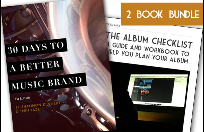 The Album Checklist and 30 Days to a Better Music Brand eBook Bundle