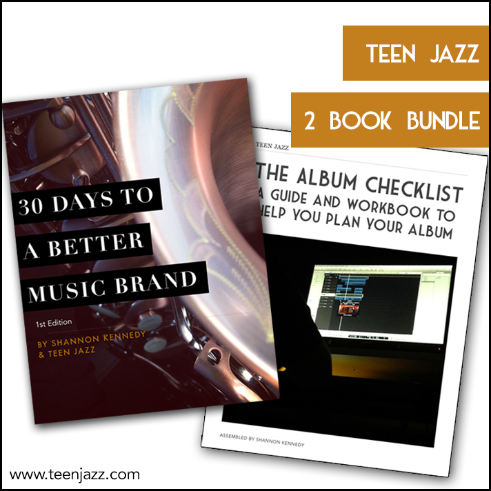 Plan your next album with The Album Checklist, a guide and workbook with free templates to help you organize your project. Boost your music branding with 30 Days to a Better Music Brand.