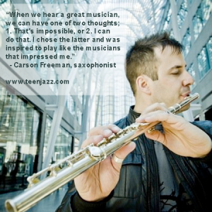 Interview with Saxophonist Carson Freeman | Teen Jazz