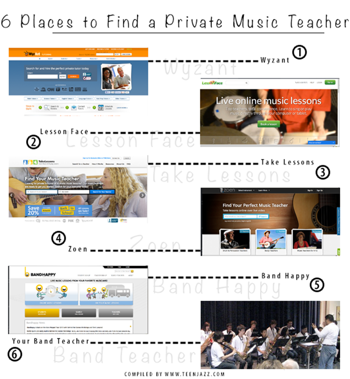 6 Places to Find a Music Teacher | Teen Jazz