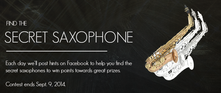 Enter to Win | Secret Saxophone Scavenger Hunt Teen Jazz