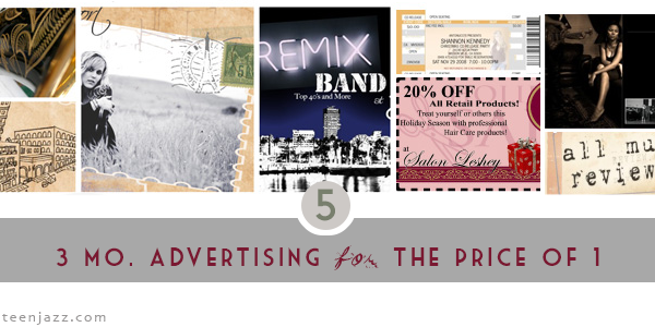 3 months of advertising for the price of 1 | Teen Jazz