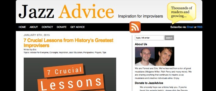 Jazz Advice - A Great Site for Improvisers | Teen Jazz